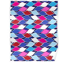Seamless abstract graphic pattern Poster