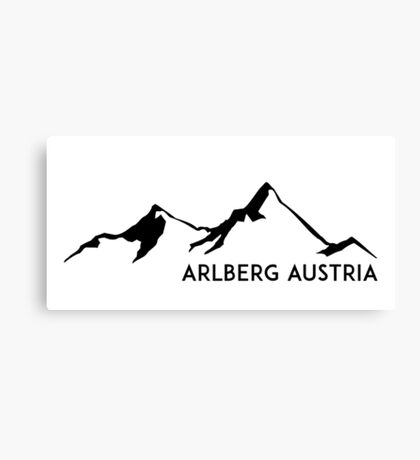 SKIING ARLBERG AUSTRIA Ski Mountain Mountains Skis Silhouette Snowboard Snowboarding Canvas Print