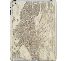 Vintage Pictorial Map of Portsmouth NH (1877) iPad Case/Skin