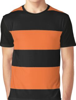 Halloween Stripes - Black and Orange Graphic T-Shirt