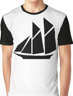 Sailboat Silhouette Graphic T-Shirt