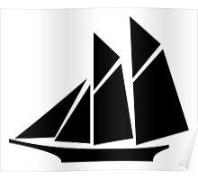 Sailboat Silhouette Poster