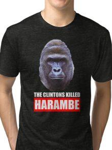 The Clintons Killed Harambe Tri-blend T-Shirt