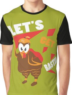 Let's Get Basted Funny Design for Thanksgiving Graphic T-Shirt