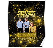 Star Trek Spock Mc Coy Kirk Poster