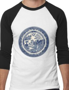 China Blue Willow Men's Baseball ¾ T-Shirt