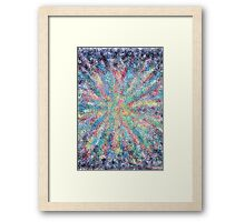 1406 - Color Flow Happening Framed Print