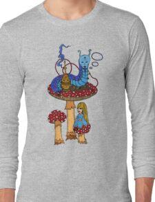 Hookah Smoking Catterpillar  Long Sleeve T-Shirt