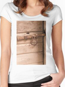 old door Women's Fitted Scoop T-Shirt