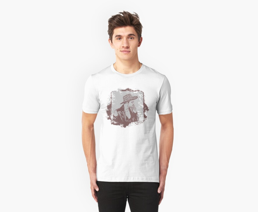 Cowboy Smoking Hat :D Cool Grunge Vintage T-Shirt by Denis Marsili