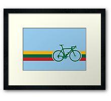 Bike Stripes Lithuanian National Road Race Framed Print