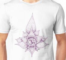 Om / purple Unisex T-Shirt