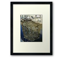 Reflections on the past Framed Print