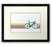 Bike Stripes Lithuanian National Road Race v2 Framed Print