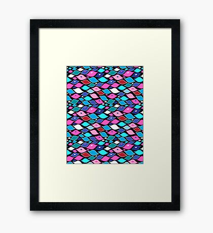Seamless abstract graphic pattern  Framed Print