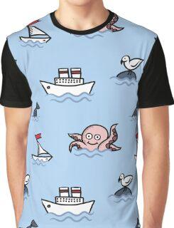 sea pattern Graphic T-Shirt