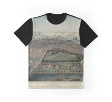 Map of Boston 1850 Graphic T-Shirt