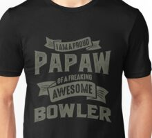 Proud Papaw of an Awesome Bowler Unisex T-Shirt