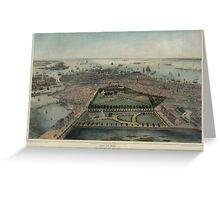 Map of Boston 1850 Greeting Card