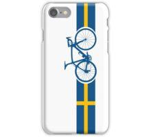 Bike Stripes Swedish National Road Race iPhone Case/Skin