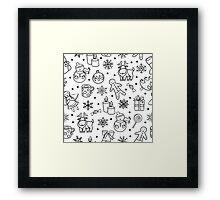 winter christmas pattern Framed Print