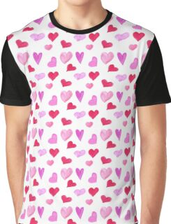 Watercolor hearts Graphic T-Shirt
