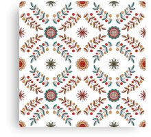 Floral diamond ornament in Hungarian style Canvas Print