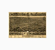 Vintage Pictorial Map of Birmingham (1885) Unisex T-Shirt