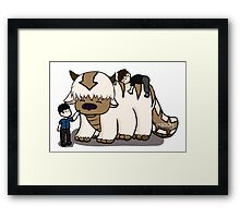 Dan and Phil with Appa  Framed Print