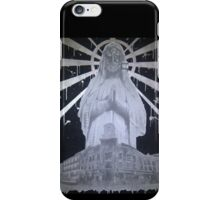 Untitled- Virgin Mary gas mask piece iPhone Case/Skin