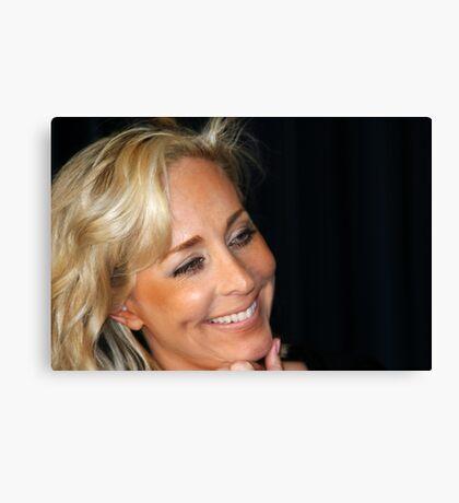 Blond Woman Smiling Canvas Print