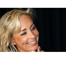 Blond Woman Smiling Photographic Print
