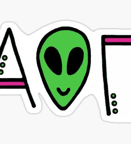 Alien O II Sticker