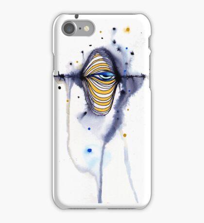 Barbed wire eye iPhone Case/Skin