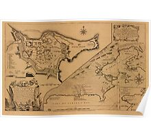 Map of Louisbourg 1757 Poster