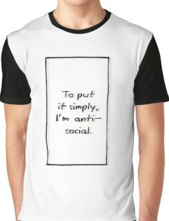 Antisocial Graphic T-Shirt