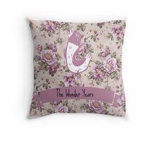The Wonder Years Pink logo Throw Pillow