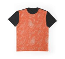 New Year Fantasy Rooster and Berry Graphic T-Shirt