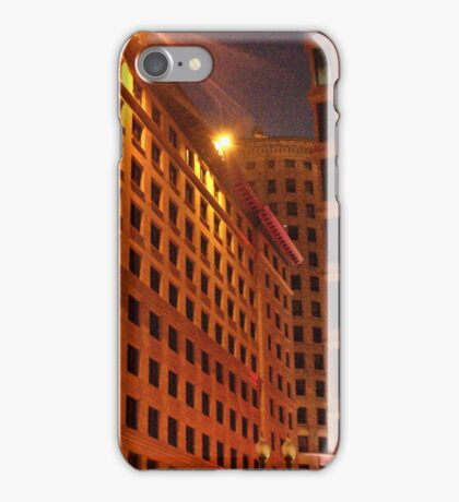 Downtown at night iPhone Case/Skin