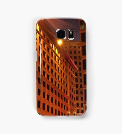 Downtown at night Samsung Galaxy Case/Skin