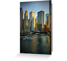 Chicago Evening Greeting Card