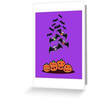 Pumpkins and Bats Greeting Card