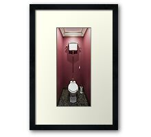 Interior Toilet English style Framed Print
