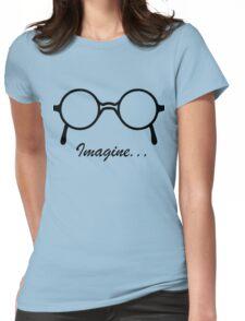 Imagine John Lennon Song Lyrics Quotes The Beatles Rock Music Womens Fitted T-Shirt