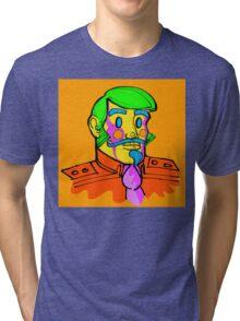 Captain Vector, conceptual character. Tri-blend T-Shirt
