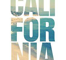 California Vintage Beach Summer Typography by RexLambo
