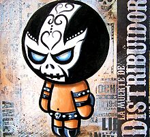 """Lucha BELLIES """"DEATH DEALER"""" POOTERBELLY by Pat McNeely"""