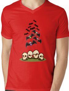 Bats n Skulls Mens V-Neck T-Shirt
