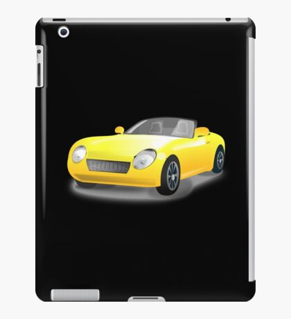 Yellow, Convertible, Sports Car, Drop Top iPad Case/Skin