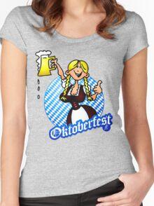 Oktoberfest - girl in a dirndl Women's Fitted Scoop T-Shirt